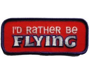 Ecusson I\'d rather be flying