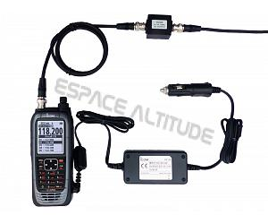 ICOM IC-A25CEFR VHF aviation certifiée comme radio principale